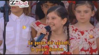 Non spegnere le parole - Concerto L'Aquila Zecchino d'Oro [Karaoke Version]