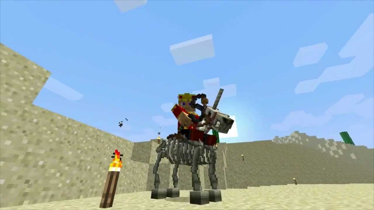 how to make a skeleton horse in minecraft 1.9