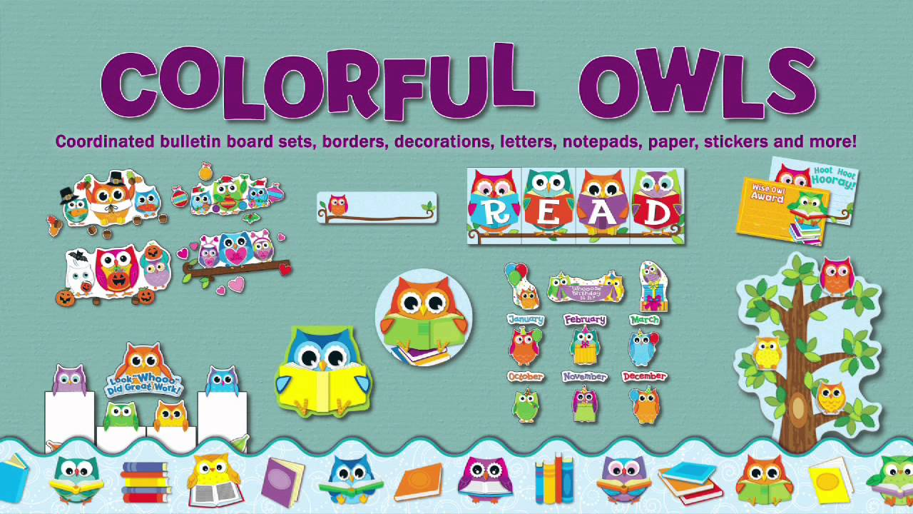 More Than D 233 Cor Colorful Owls Classroom Collection From