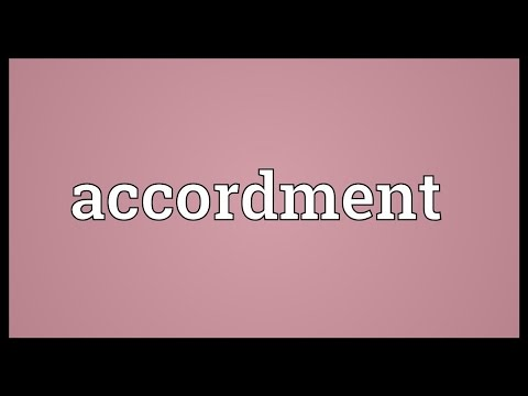 Header of Accordment
