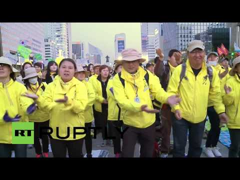 South Korea: Thousands protest government handling of Sewol ferry disaster