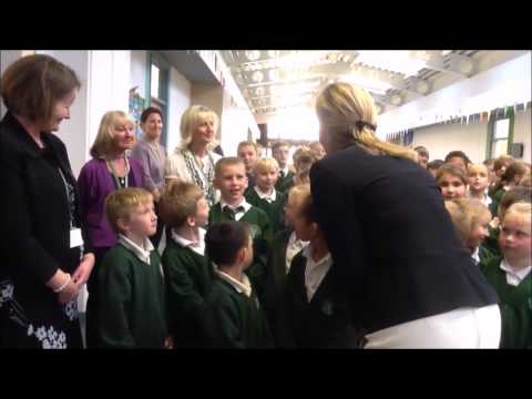 Countess of Wessex Visits Gatten and Lake Primary School