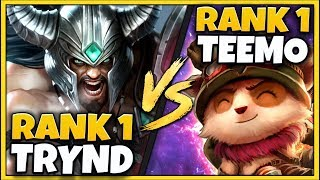 #1 TRYNDAMERE WORLD FORCES RANK 1 TEEMO RAGE-QUIT! HE ACTUALLY GOT MURDERED?!? - League of Legends