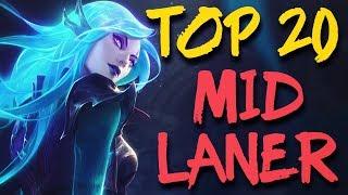 Top 20 MID LANER Plays #14 | #LeagueofLegends