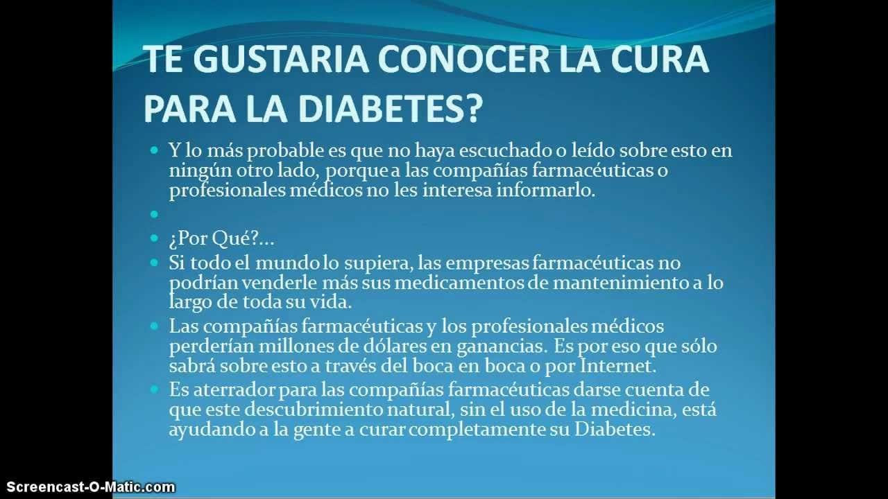 Cómo Curar La Diabetes Tipo 2 - [Tratamiento Para Curar El