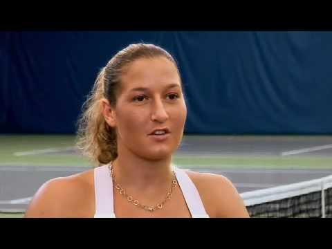 Caroline Wozniacki interviewed by Shahar Peer Video