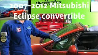 Mitsubishi eclipse convertible 2007 - 2012 windshield replacement by Alfredo's Auto Glass repair