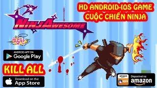 Game ninja Nhật - Đánh Nhau    NinjAwesome (IOS/Android game) HD Game - Cuộc chiến Ninja