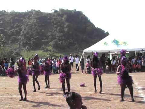 Cheerleaders dance Williams House