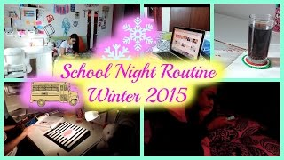 School night routine 2015