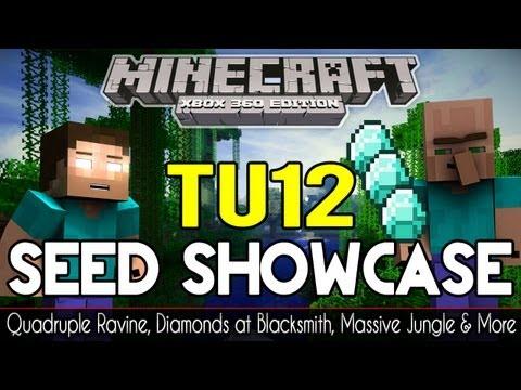 Minecraft Xbox TU12 Seed Showcase | Massive Jungle, Quadruple Ravine, Blacksmith & More