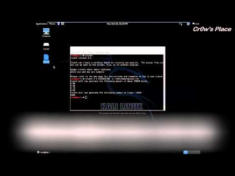 Wordlist Generation with Crunch - Kali Linux (HD)
