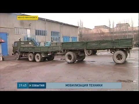 Из Ивано-Франковской области на передовую отправляют грузовики, экскаваторы и тракторы