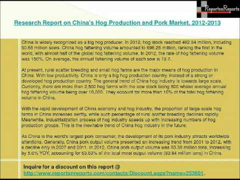 China's Hog Production and Pork Market
