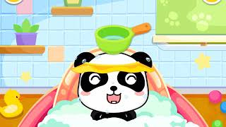 Baby Panda Care kids learn how to take care of babies - education game