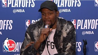 Kevin Durant credits Klay Thompson's performance after Warriors' Game 4 win | 2019 NBA Playoffs