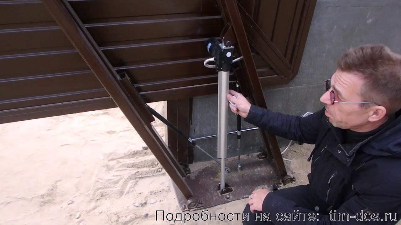 Самодельный электропривод для подъемных ворот 153