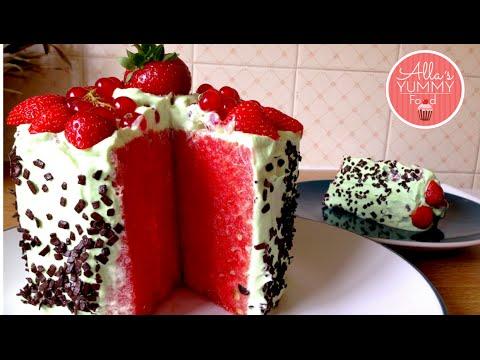 Watermelon Cake - Dinnyetorta