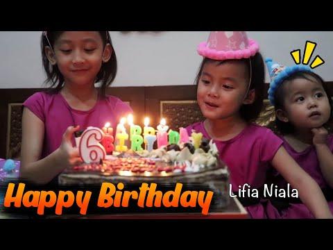 Selamat Ulang Tahun Niala Ke 6 - Happy Birthday Niala 6th Surprise Cake Birthday @lifiatubehd