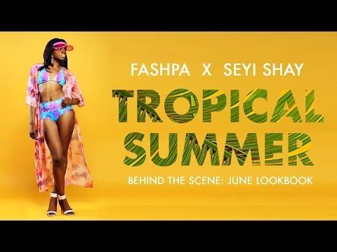 Seyi Shay: Behind-the-Scenes Tropical Summer Lookbook   Fashpa...