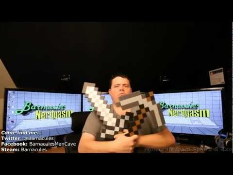 Review Official Minecraft Foam Pickaxe and Iron Sword from ThinkGeek