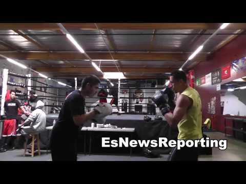 el dorado reyes working out at robert garcia boxing academy EsNews Boxing