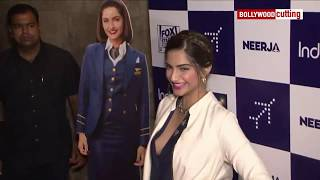 Sonam Kapoor Aaccidential Boobs Show at Neerja special Screening