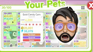 INSANE TRADES FOR LEVEL 15 GOLD PETS!! | Pet Simulator | ROBLOX