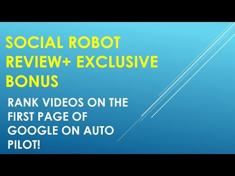Social Robot|Social Robot Review and Bonus CPA Marketing Training