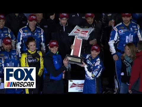 Dale Earnhardt Jr. Wins Budweiser Duel 1 - 2015 NASCAR Sprint Cup