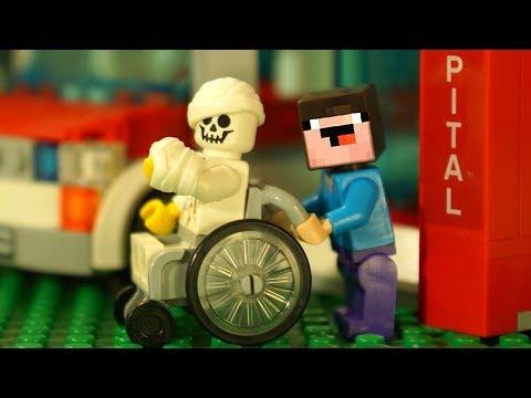 ЧТО С БОРЬКОЙ ? 🚑 Лего НУБик Майнкрафт Мультики - LEGO Minecraft Привет Сосед
