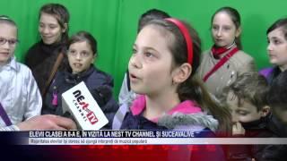 elevii clasei a II a E  in vizita la NEst TV Channel si SuceavaLive