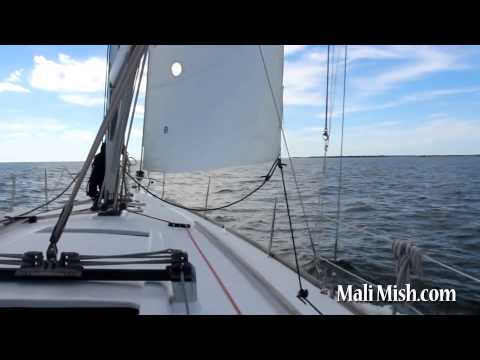Sailing with kids on Tampa Bay aboard a Beneteau 373.