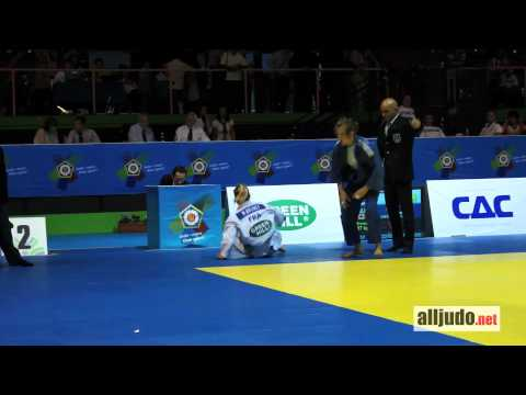World Cup Rome 2012 : Brunet (FRA) - Melancon (CAN) - ippon - yoko-guruma -57 kg Image 1