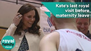 Pregnant Kate's last royal visit before maternity leave