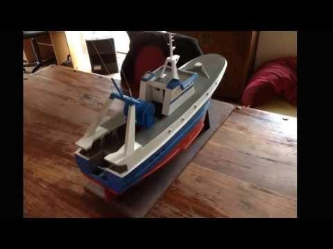 Construction Chalutier jericho rc maquette Modelisme trawler model