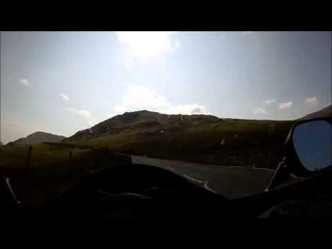 Motorcycling In North Wales, Snowdonia and Llanberis pass.