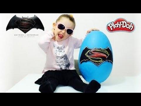 Wonder Woman DEV Sürpriz Yumurta Açma Oyun Hamuru DC Justice League Figz Oyuncakları
