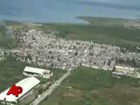 Raw Video: Coast Guard Aerials Reveal Haiti Devastation