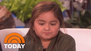 Ellen DeGeneres Meets Pharrell Williams Fan Ellie, A Young Cancer Survivor | TODAY