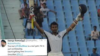 Prithvi Shaw's Century (154 runs) | India Red vs India Blue - Duleep Trophy Final - tWitTer rEaCtIoN