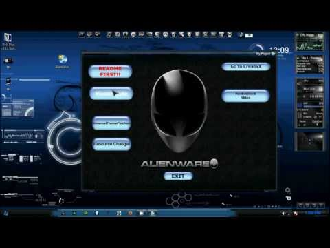 Alienware Themes 2012 + rocket dock skin
