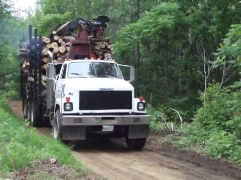 Gmc Brigadier Log Truck In Maine Youtube