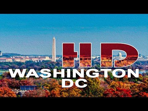 WASHINGTON DC / ARLINGTON VA , USA - A WALKING TRAVEL TOUR - HD 1080P