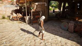 Why not to fight with the wooden pillar? Assassin's Creed: Origins
