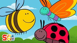 Butterfly Ladybug Bumblebee | Super Simple Songs