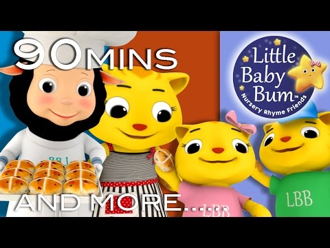 Hot Cross Buns | HUGE Nursery Rhymes Collection | 90 Minutes From LittleBabyBum!