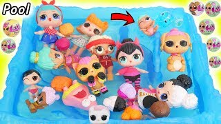 LOL Surprise Dolls Lil Sisters at Kinetic Sand Pool