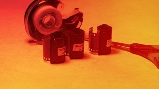 Respooling 35mm Color Print Film for Redscale Photography