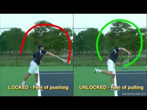 Tennis Serve Racquet Path - Linear vs Circular